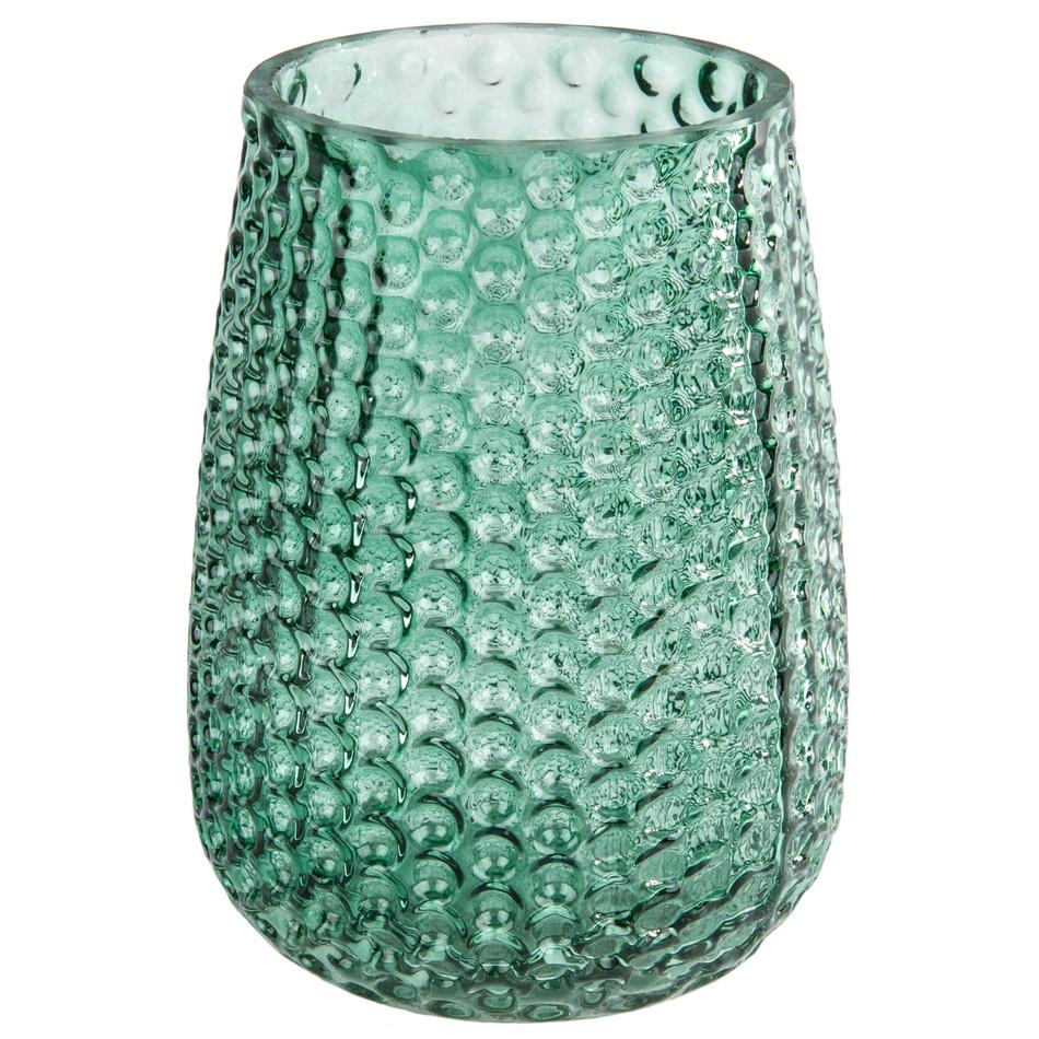 Elegantní skleněná váza, zelená