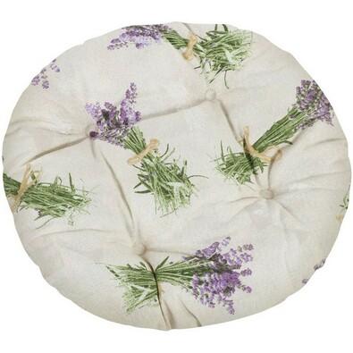 Sedák Ema okrúhly prešívaný Zväzok levandule, 40 cm