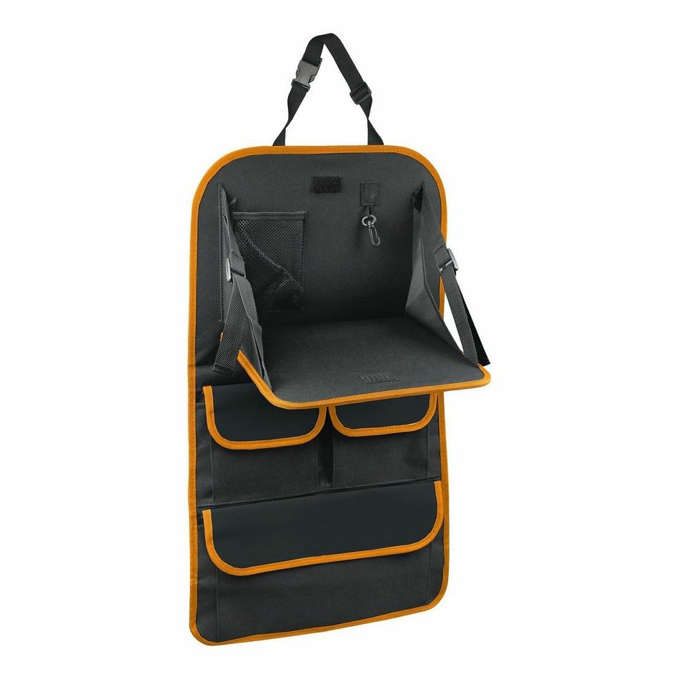 Organizer z stolikiem na przedni fotel samochodowy Orange, 40,5 x 69,5 cm