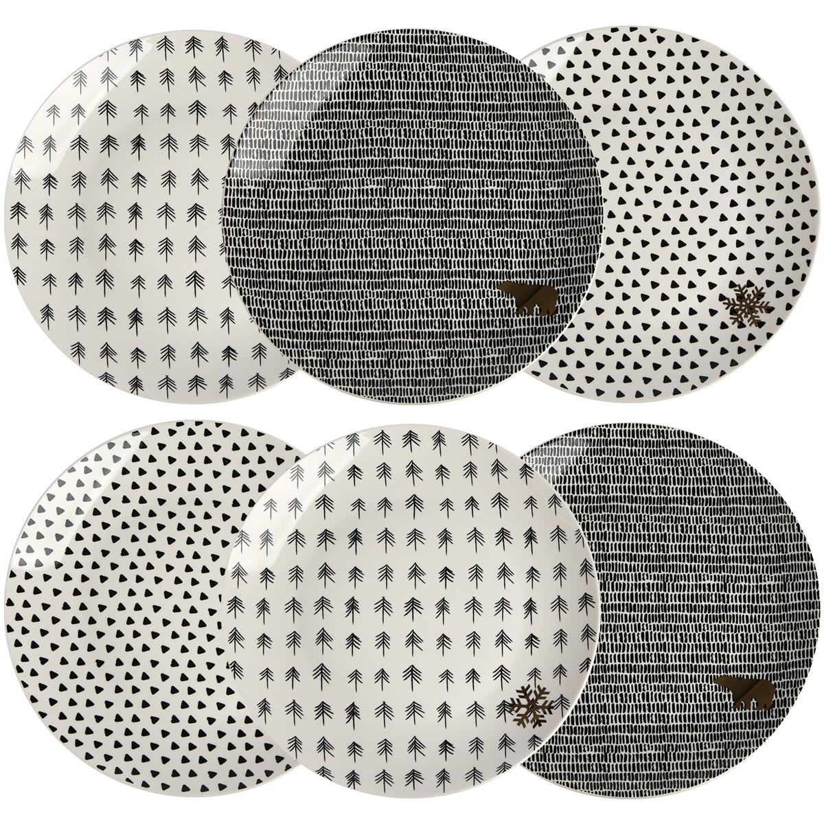 Altom Sada porcelánových dezertných tanierov Nordic Winter 20 cm, 6 ks