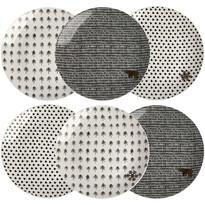 Altom Sada porcelánových dezertních talířů   Nordic Winter 20 cm, 6 ks