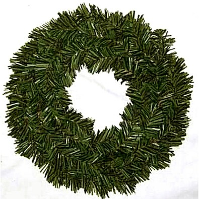 Dekorativní vánoční věnec chvojový, pr. 30 cm, zelená