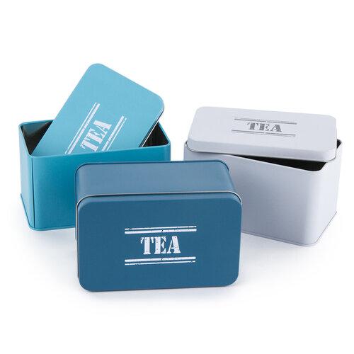 Plechová dóza Tea, sv. modrá