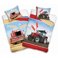 Detské bavlnené obliečky Kombajn a Traktor, 140 x 200 cm, 70 x 90 cm