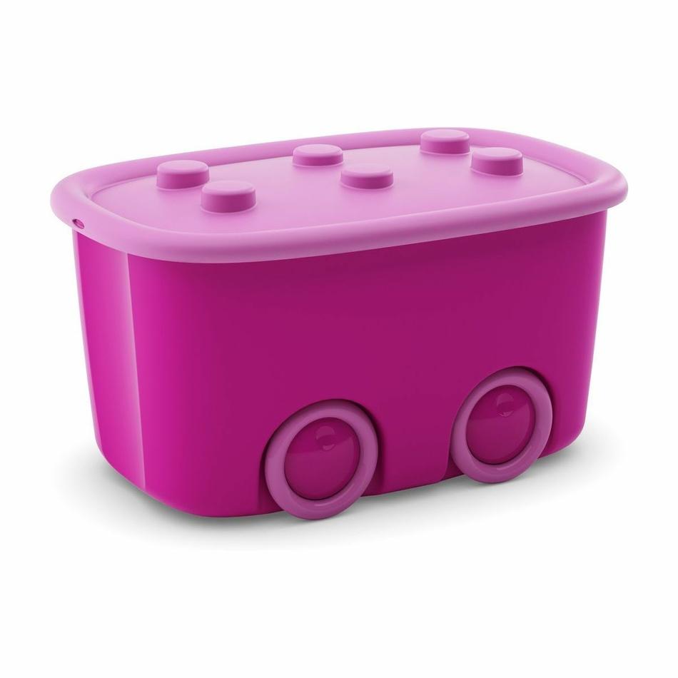 KIS Úložný box Funny - růžový 46 l
