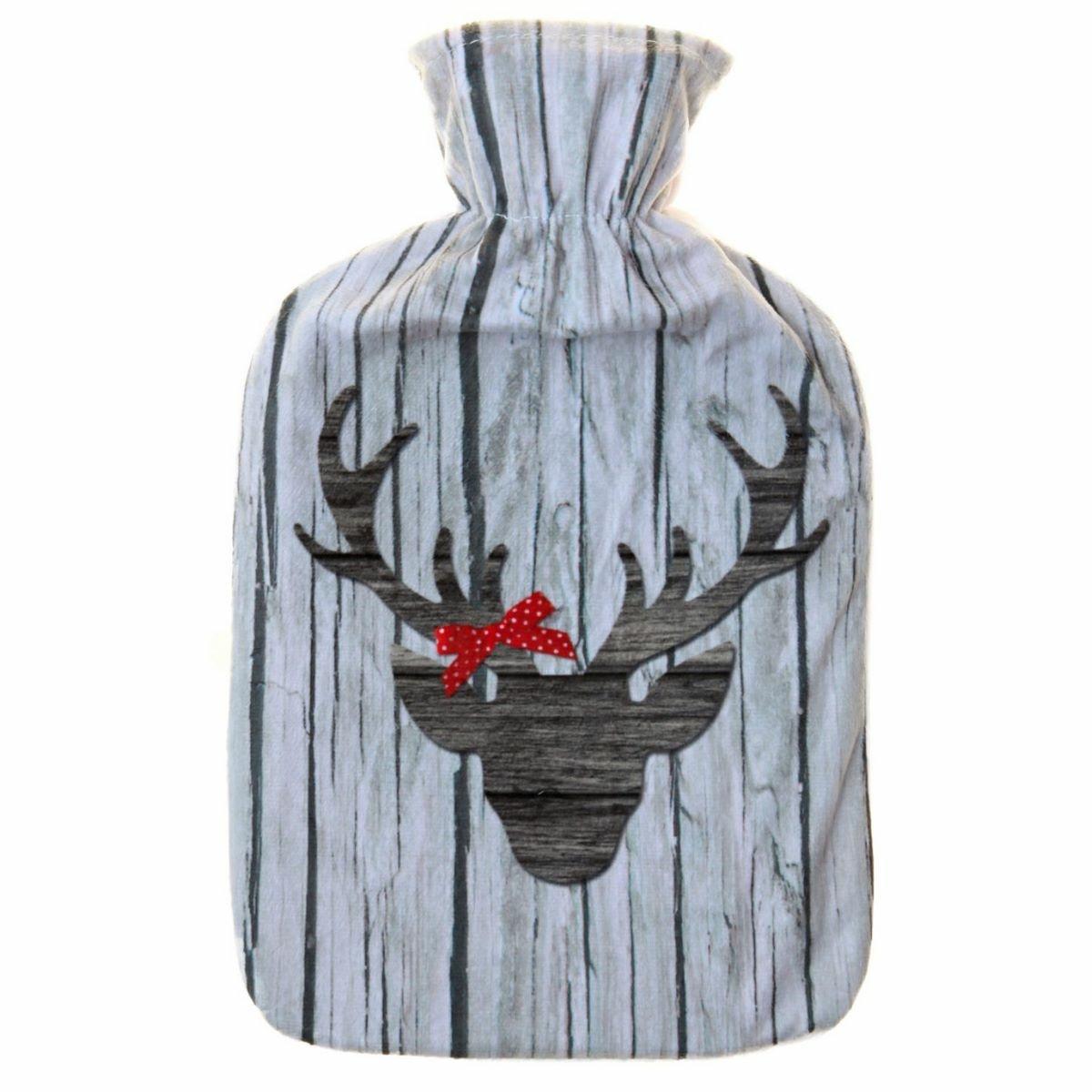 Modom Termofor s fleecovým obalem Winter 2 l Sob hnědý