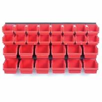 Függeszthető panel szerszámokhoz, 28 boxszal, Orderline, 80 x 16,5 x 40 cm