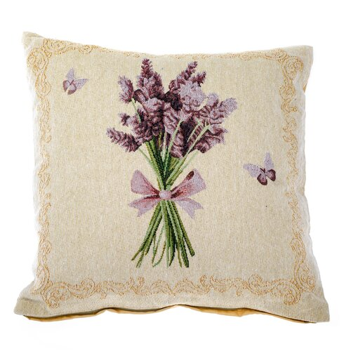 Poszewka na poduszkę Wiązka lawendy beżowy, 40 x 40 cm