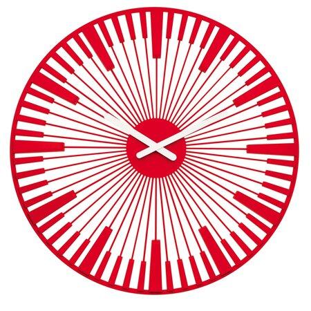 Koziol Nástěnné hodiny Piano červená, pr. 45 cm