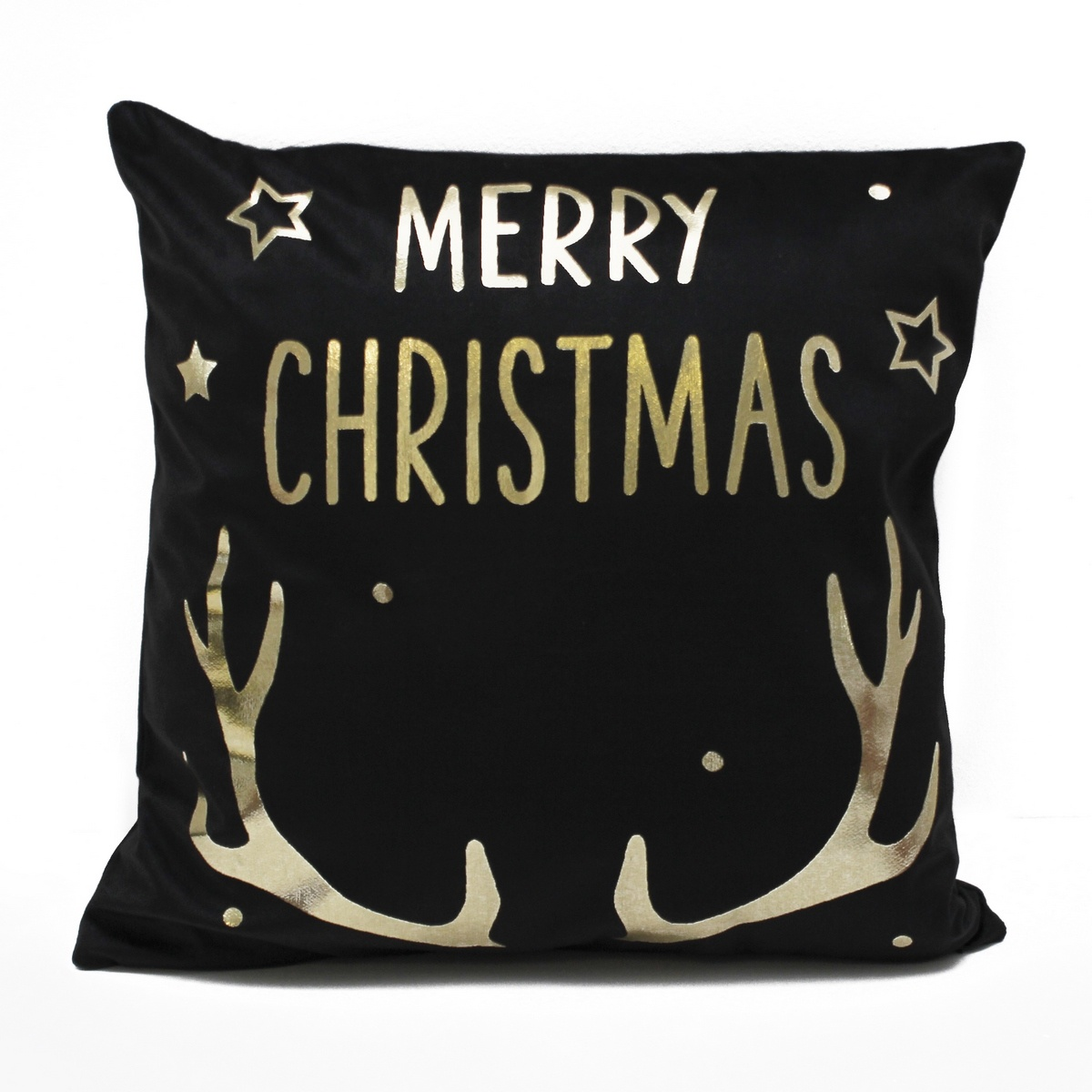 Domarex Vánoční povlak na polštářek Merry Christmas černá, 45 x 45 cm