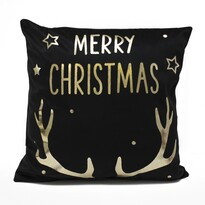 Domarex Obliečka na vankúšik Merry Christmas čierna, 45 x 45 cm