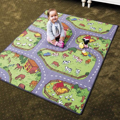 Dětský koberec Farma, 200 x 200 cm