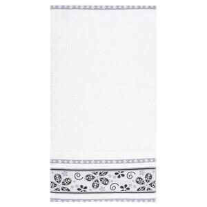 Ručník Fiora bílá, 50 x 90 cm
