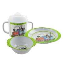 Set de masă Orion Cârtiță cu locomotivă, melanină, pentru copii