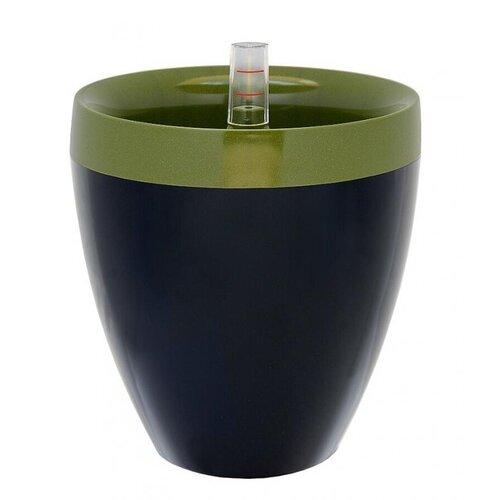 Samozavlažovací květináč Calimera A2 zelená + čierna, Plastia