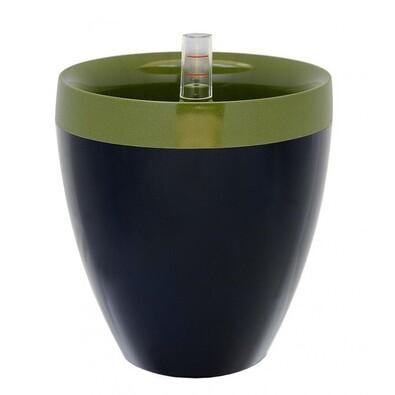 Samozavlažovací kvetináč Calimera A2 zelená + čierna