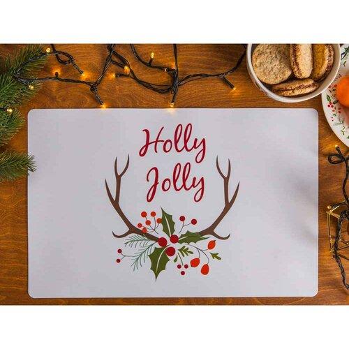 Altom Vianočné prestieranie Joy, 28 x 43 cm, sada 4 ks