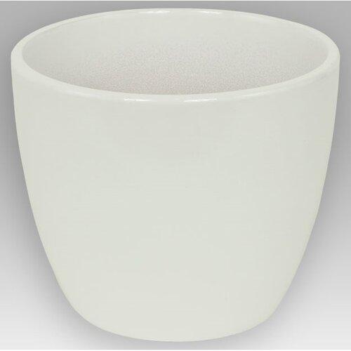 Keramický obal na květináč Pombal bílá, 13,5 cm