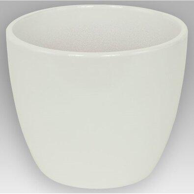Keramický obal na květináč Pomba bílá, 13,5 cm