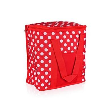 Chladící taška 20 l, červená s puntíky