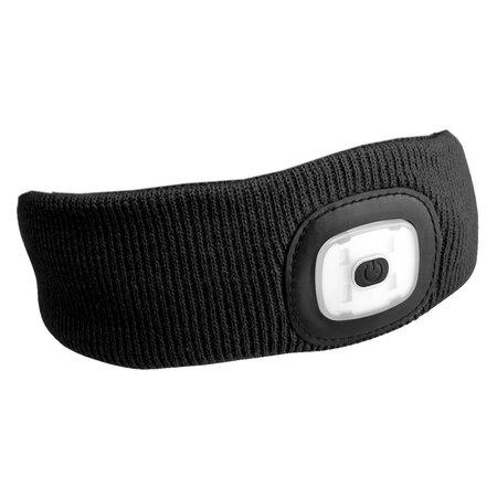 Sixtol Čelenka s čelovkou 45 lm, USB, uni, čierna