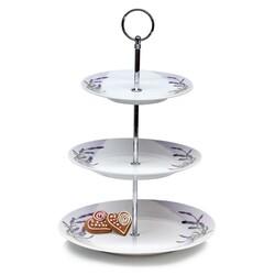Banquet 3-poschodový stojan na cukrovinky Lavender