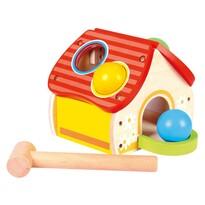Bino Kalapácsos ütögető játék Házikó, 19 x 13 x 16,5 cm