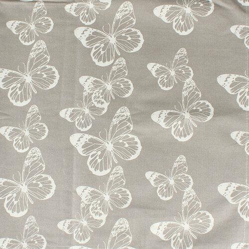 Ubrus Motýli šedá, 145 x 180 cm