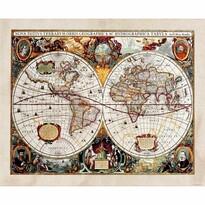 Fototapeta XXL Stará mapa 360 x 270 cm, 4 diely