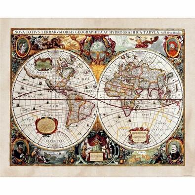 Fototapeta XXL Stará mapa 360 x 270 cm, 4 díly