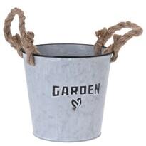 """Cynkowa osłonka na doniczkę Koopman""""Garden Plant"""", 18cm"""