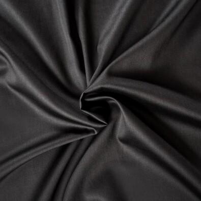 Prześcieradło satynowe czarny, 160 x 200 cm