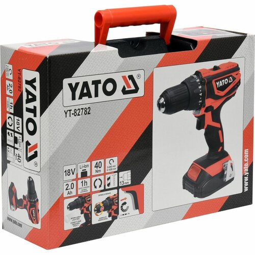 Yato YT-82782 Aku vrtačka Mabuchi 18V LI-ION, 440-1650 ot/min