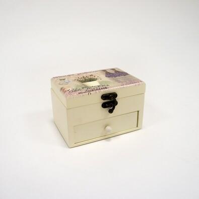 Dárková krabička se zrcátkem, 14 x 9 x 9 cm