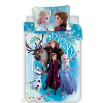 Jerry Fabrics Detské bavlnené obliečky Frozen 2 family, 140 x 200 cm, 70 x 90 cm