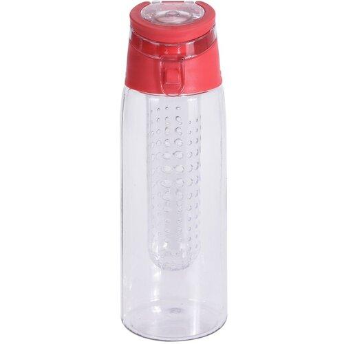 Športová plastová fľaša Lena 650 ml, červená