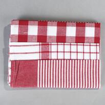 Sada kuchyňských utěrek mix červená, 50 x 70 cm, 3 ks