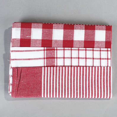 Konyhai törlőruha készlet mix, piros, 50 x 70 cm, 3 db