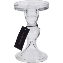 Świecznik szklany Casuality, 8,5 x 13,5 cm