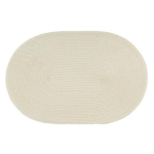 Suport farfurie Deco oval crem, 30 x 45 cm, set de 4 buc.