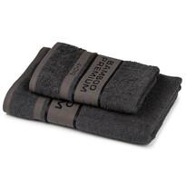 4Home Komplet Bamboo Premium ręczników ciemnoszary, 70 x 140 cm, 50 x 100 cm