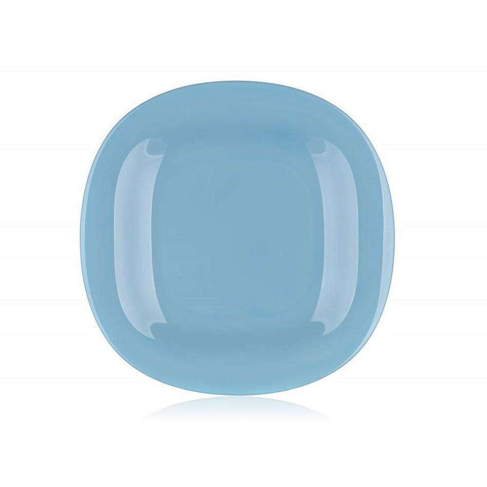 Luminarc Hranatý mělký talíř CARINE 27 cm, 6 ks, modrá