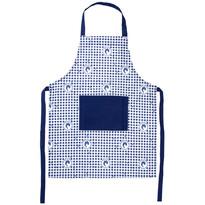 Fartuch kuchenny Country kratka niebieski, 60 x 80 cm