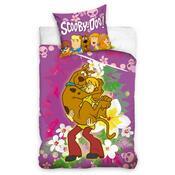 Dětské povlečení Scooby Doo Květiny, 140 x 200 cm, 70 x 80 cm