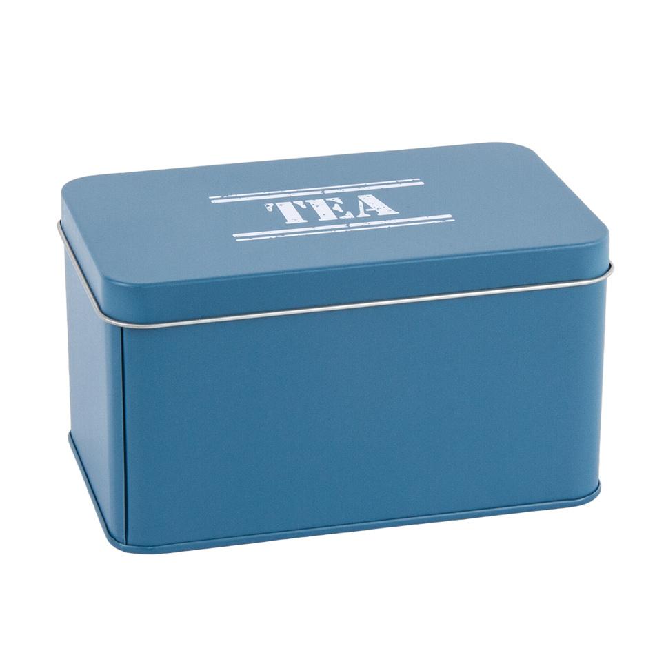 Plechová dóza Tea, tm. modrá