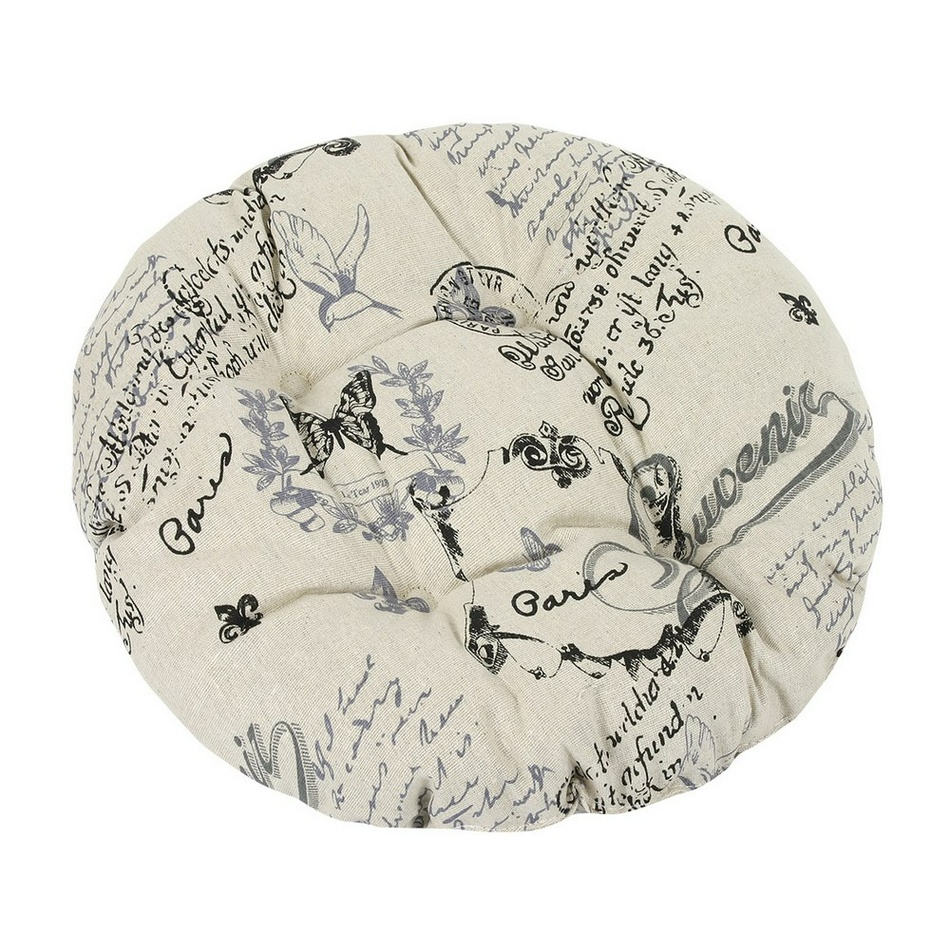 BELLATEX Sedák kulatý DANA prošívaný Dopis 40 cm