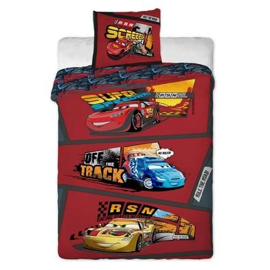 Dětské bavlněné povlečení Cars comics, 140 x 200 cm, 70 x 90 cm