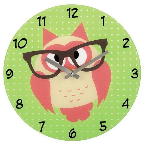 Hama nástenné hodiny Sova s okuliarmi, sklenené, 136214
