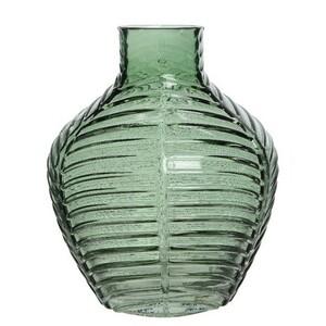 Skleněná váza Crystal zelená, 20 cm