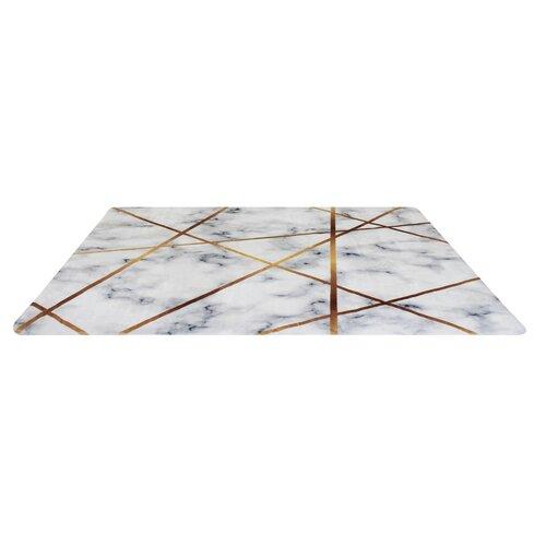 Domarex Koberec z paměťové pěny Prado, světle šedá, 120 x 160 cm